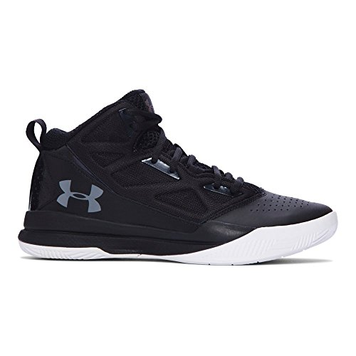 Under Armour Women's Jet Mid Basketball Shoe Black/Charcoal Size 6.5 M US