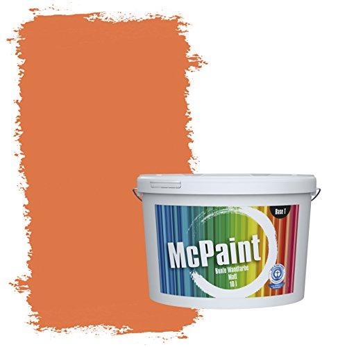 McPaint Bunte Wandfarbe Aprikose - 10 Liter - Weitere Orange Farbtöne Erhältlich - Weitere Größen Verfügbar