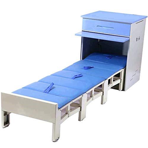 Fan Fan Cama Plegable Hospital Acompañamiento de la Cama Cama Plegable Mesa del Lado del Hospital del Espacio Provincial Hospital Cama Simple retráctil @ Ventilador