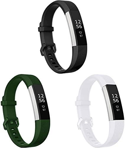 Gransho Correa de Reloj Reemplazo Compatible con Fitbit Alta HR/Alta, la Correa de Reloj Watch Band Accessorios (3-Pack I)