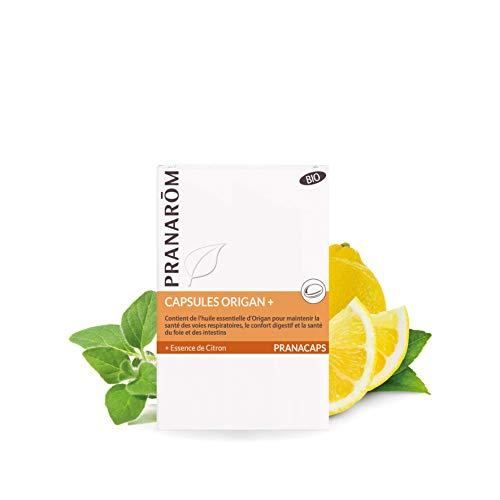Pranarôm - Pranacaps Origan - Confort Digestif - Santé du Foie et des Intestins - Huile Essentielle Bio - 30 Capsules