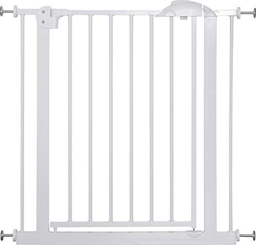 IB-Style® Megane Treppengitter 74-143cm | Haustiergitter |Türschutzgitter | Ohne Bohren |Weiß-Grau | 74-87 cm