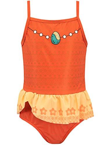 Disney Costume da Bagno per Ragazze Moana Arancione 5-6 Anni