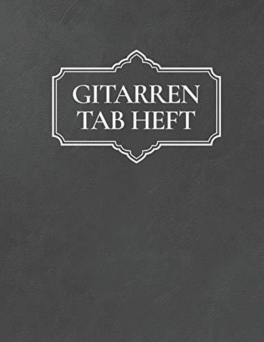 Gitarren Tab Heft: Gitarrenbuch mit leeren Tabulaturlinien und Akkorddiagrammen