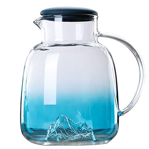 Pichet en verre avec couvercle, Pichet à thé glacé...
