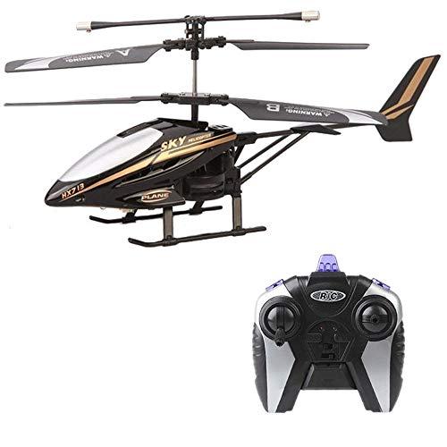 Pinjeer Mini Aviones teledirigidos de helicópteros con cámara HD Mini Drone Dron Quadcopter RC HX713 2.5CH Helicóptero de Radio Control Remoto Aviones Regalos for niños 5+ (Color : Black)