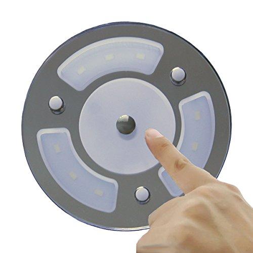 LIGHTEU, 12 V 2.6 W a due colori (bianco caldo / blu) luce di pannello, Edificio luce di soffitto LED con touch Switch e touch dimmer per barche, yacht, e Caravan, Camper