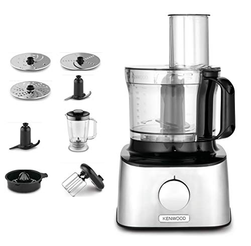 Kenwood FDM301SS Multifunktions-Küchenmaschine Compact Edelstahl 2,1 L 800 W, 2.1 liters