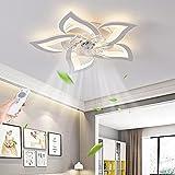 Ventilatori Da Soffitto Moderni A LED,Lampade Soggiorno,Regolazione Continua,Temporizzazione Del Telecomando,...