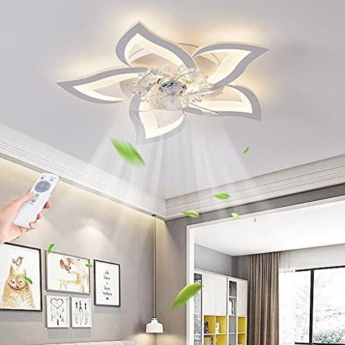 LED Deckenventilator Mit Beleuchtung Moderne Fan Deckenleuchte Blütenform Schlafzimmer Deckenlampe Dimmbar Mit Fernbedienung Timing Wohnzimmerlampe Esszimmer Kinderzimmer Ventilator Deckenlicht