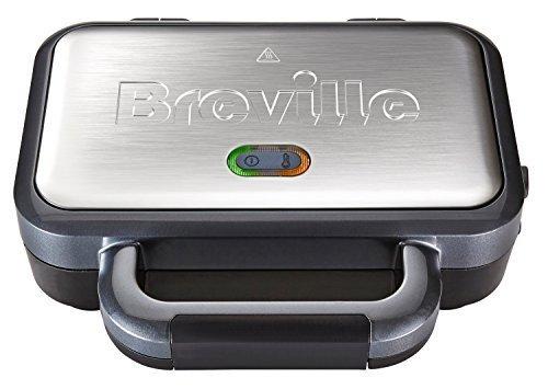 Breville VST041 - Tostadora para sándwich de relleno profundo, acero inoxidable, color plateado
