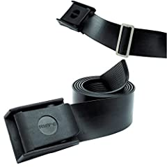 54 (137cm) long Can be adjusted by cutting to size Cam-lock buckle made with glass-filled nylon Weight capacity 20 lbs Heavy duty stainless steel weight retainers available (sold separately)