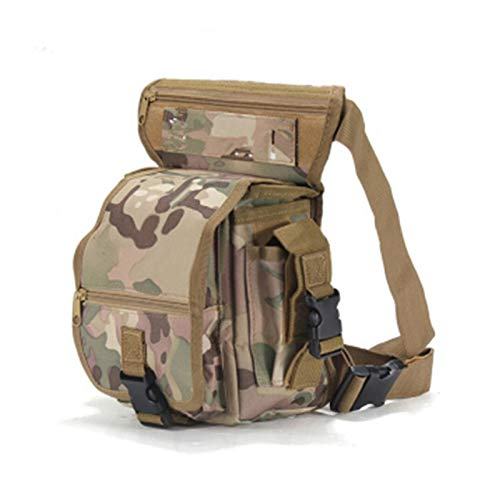 Satchel, Waist Bag, Leg Bag Men's Waterproof Practical Multifunctional Thigh Bag Tactical Riding Leg Bag (Color : H, Size : One Size)