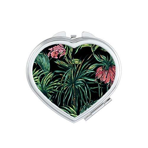 DIYthinker Fleur Plante Feuille Rose Coeur de Papillon Maquillage Compact Miroir de Poche Miroirs Mignon Petit Cadeau Portable à la Main Multicolor