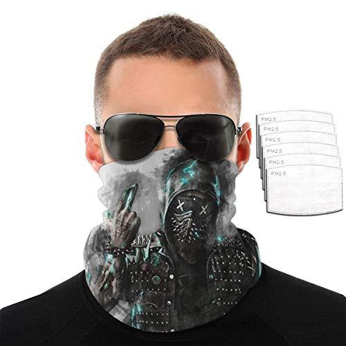 SVDziAeo Watch Dogs 2, Dedsec Mujeres Hombres protección Facial Bandanas arnés Cuello Polaina pasamontañas con 6 filtros