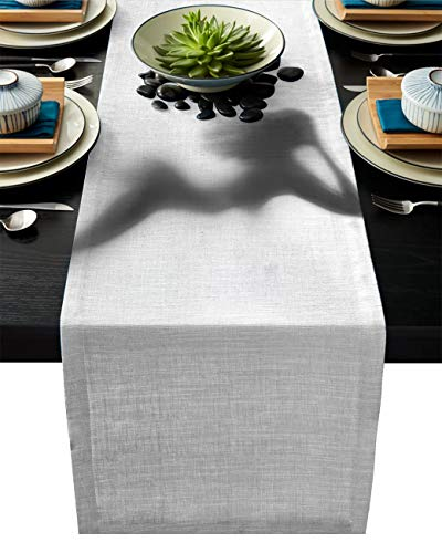 ABCrazy Dining Table Runner 13 x 70inch, Sexy Nude Lady Silhouette Durable Table Covers Decoration for Family Dinner Kitchen Patios Coffee Table Everyday Use Tablecovers Modern Grey