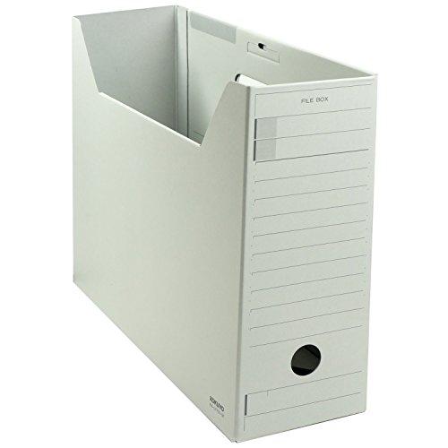 コクヨ ファイルボックス 色厚板紙 フタ付き A4 グレー A4-LFFN-MZ