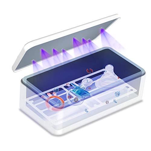 VANELC Portable UV Sterilizer and Sanitizer Box, Kills 99.99% of Germs, Viruses & Bacteria, Safe UV-C Cleaner for Pacifiers and More, White
