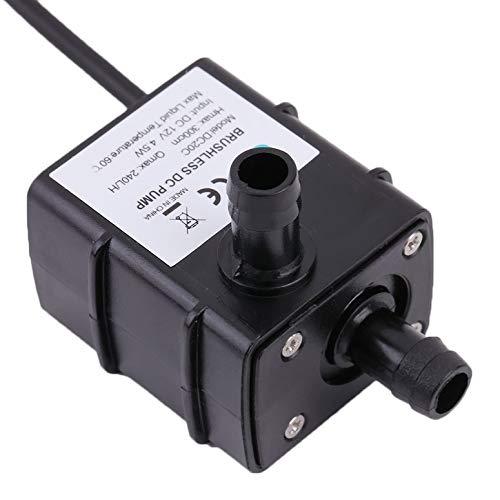 AD20P 240L / H DC 12V 2-Phasen-CPU-Kühlung Auto Brushless-Wasserpumpe Wasserdichte Wasserpumpe mit niedrigem Stromverbrauch