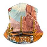 WH-CLA Calentador De Cuello Pasamontañas Ruta 66 Vintage Arizona Road Trip Cactus Sombreros Protección UV Polainas De Cuello Elástico Bufanda Lavable Pañuelo De Cabeza para Ciclismo Caza