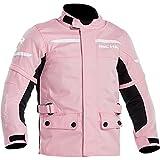 Richa – Chaqueta de moto con protecciones – Chaqueta de moto tipo chaqueta textil para niño, niños, gira, todo el año, blanco/rosa, 152
