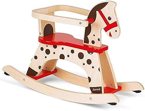 CL- Feste Schaukelpferd aus Holz für Kinder abnehmbares Baby Lernspielzeug 775X290X565mm