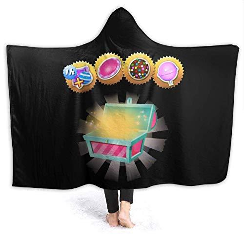 WH-CLA Blanket Candy Treasure Chest Sofá con Capucha Especial 153X127Cm Manta De Vellón Personalizada Manta De Franela Sala De Estar Cómoda Súper Suave Todas Las Estaciones Sofá Cama EST