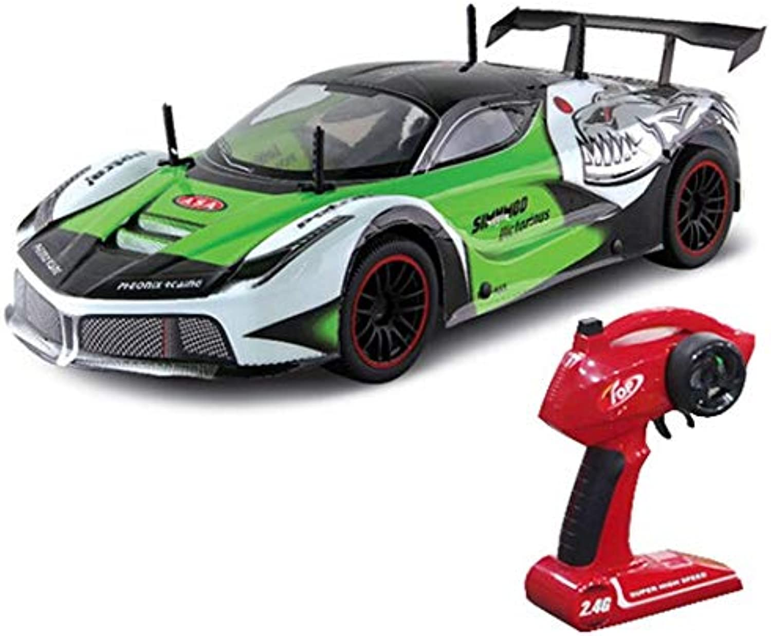 Generic RC Car High Speed Racing Drift Monster Truck Pickup GTR GT 2.4G Remote Control Vehicle Model Electric Toys Hobby Green