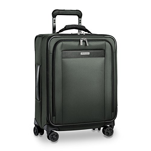 Briggs & Riley Transcend-Softside Expandable Wide-Body Carry-on Spinner Luggage, Rainforest, 21-Inch