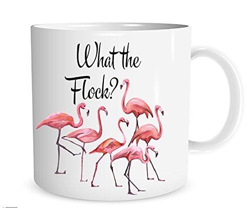 What the Flock? Mug, Flamingo Coffee Cup, Funny Gag Gift