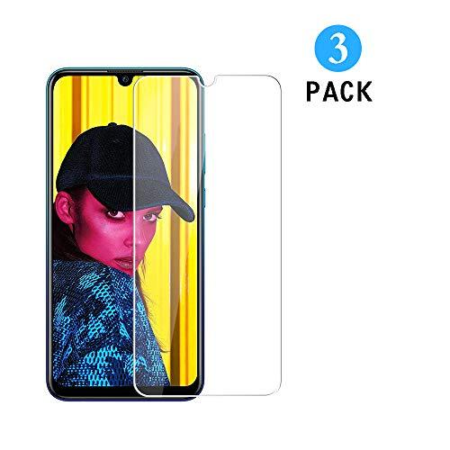 WEOFUN [3 Stück Kompatibel mit Panzerglas Schutzfolie Huawei P smart+ 2019 / Honor 10i / Honor 10 lite [0.33mm, Anti-Kratzen, Anti Fingerprint, 9H Festigkeit]