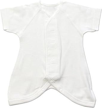 新生児 肌着 プリミーサイズ ベビー 子供服 ベビー服 赤ちゃん 小さめ 小さい フライス コンビ肌着 綿100% 外縫い 低体重児 未熟児 早産児 40-45cm [M便 1/2]