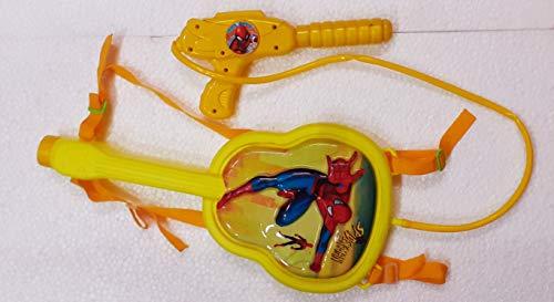 Festive Creations PICHKARI Gun    Water Gun    High Pressure Back Holding Bag Water Tank Pichkari    Best Gift for Kids ( Guitar Spiderman)……1.5L Tank
