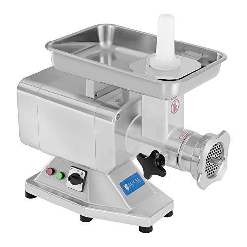 Fleischwolf Wurstmaschine Fleischmaschine (elektrisch, 220kg/h, 1100 W, 2 Lochscheiben 5/8 mm, PRO-Serie, Edelstahl) Royal Catering
