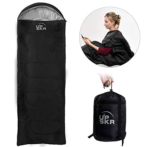 UPSKR Schlafsack mit Kompressionsbeutel,3-4 Jahreszeiten Schlafsack,Warm Wasserdichter Leichter Deckenschlafsack,Reisen und Outdoor,Ideal für Erwachsene und Kinder-190x75 cm