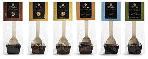 Struben Collezione Cioccolata calda cucchiaio - Latte e cioccolato fondente di copertura - set di 6 pezzi