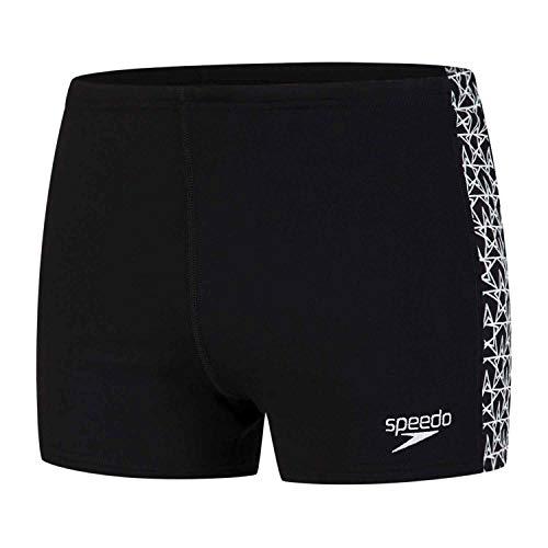 Speedo Boomstar Splice Calzoncillos de Natación, Hombre, Negro (Black/White), 28 (ES 70 cm)
