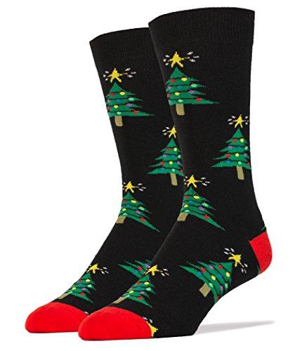 Oooh Yeah Mens Luxury Combed Cotton Crew Socks - O Tannenbaum Christmas Trees