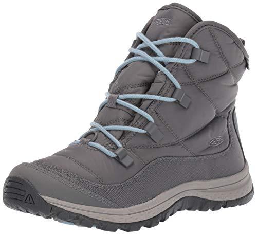 KEEN Women's Terradora Ankle WP Fashion Boot, Steel Grey/paloma, 6.5 M US