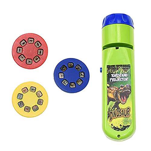 Allegorly Taschenlampen Projektionsbeleuchtung Story Licht Spielzeug Schiebelampe Pädagogisches Lernen Schlafenszeit Nachtlicht für Kinder
