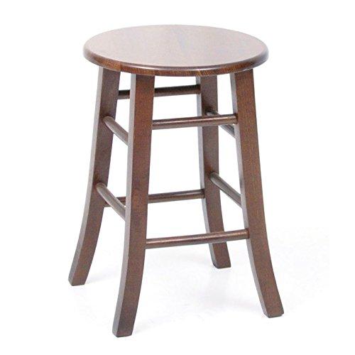 Sgabello 50 cm in legno di faggio con seduta in legno massello