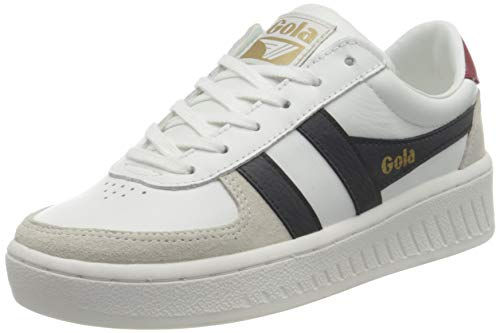 Gola Damen Grandslam Classic Sneaker, White/Navy/Deep Red, 39 EU