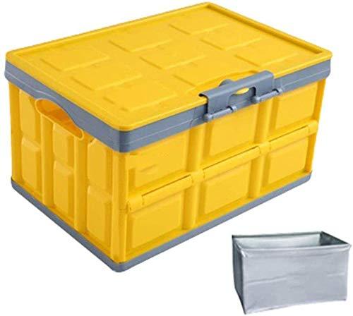 Xicaimen Contenitore Pieghevole con Coperchio e Maniglia Scatole Pieghevoli in plastica Salvaspazio per l'Autonell'armadio dicasa