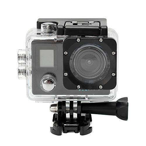 Action Cam 4K 20MP Sportkamera WiFi Unterwasserkamera 2.4G Fernbedienung Wasserdicht 40m 2.0 Zoll LCD Bildschirm 170 ° Weitwinkel mit Zwei 1200mAh Batterien externes Mikrofon (Schwarz)