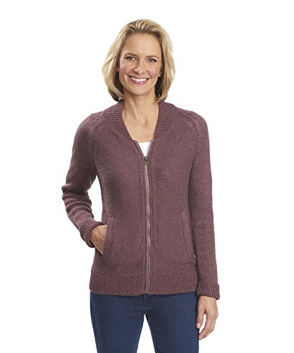 Woolrich Women's Alpine Ascent Bomber Sweater, MULBERRY (Purple), Size S