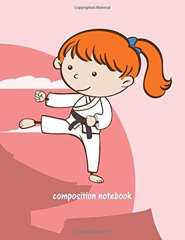 当社怖がって死ぬスラックComposition Notebook: For Girls Karate. 8.5 x 11 lined 110 pages. for kids school students and teachers (Composition Notebook For Girls Karate)