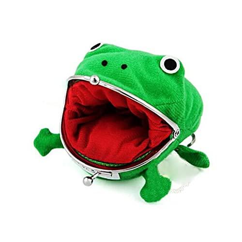 Ohomr Muntzak, schattige groene kikker muntzak, cosplay props pluche speelgoed portemonnee portemonnee voor Naruto…