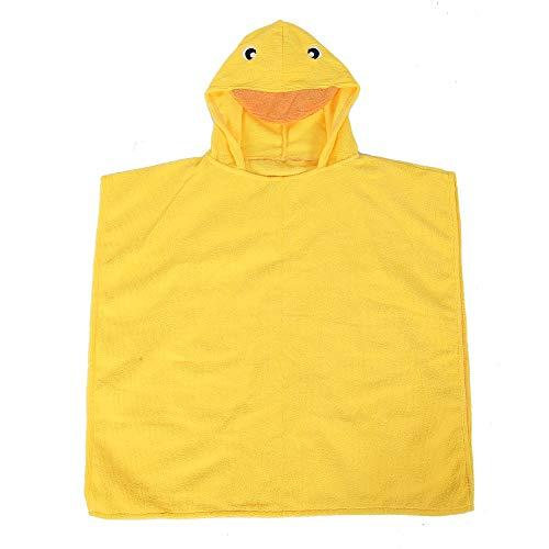 Toalla de baño para bebé, Toalla con capucha para cara de bebé, Cómoda para niños de 3 a 6 años Uso en el hogar(Little yellow duck)