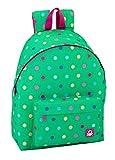 Safta Mochila juvenil Day Pack Ucb Dots Green Oficial 330x150x420mm