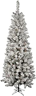 Vickerman Flocked Pacific Artificial Christmas Tree with 200 Multi-Colored LED Lights, 5.5' x 30